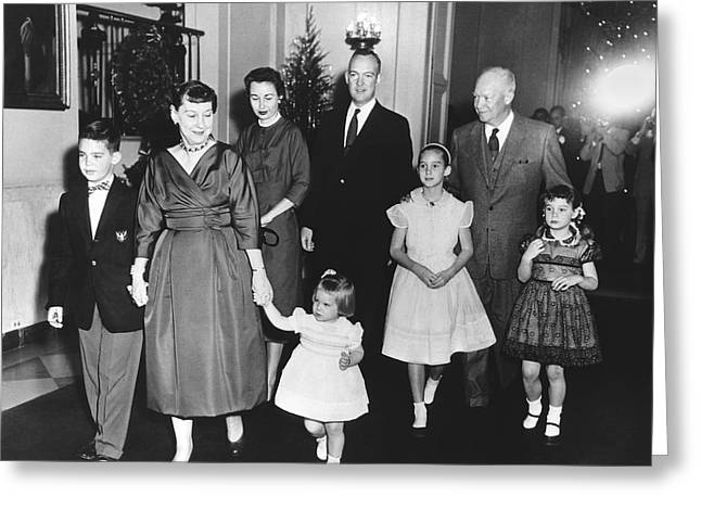 An Eisenhower Christmas Greeting Card by Underwood Archives