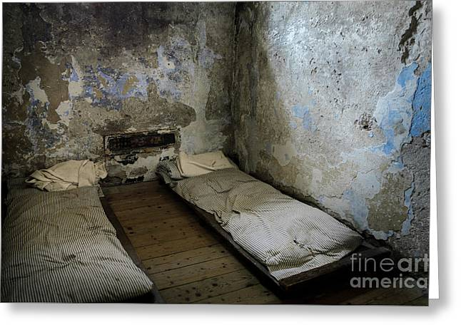 Greeting Card featuring the photograph An Empty Cell In Cork City Gaol by RicardMN Photography