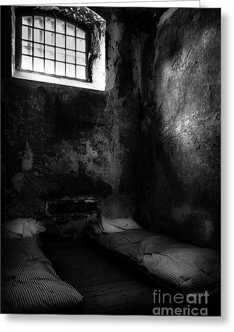 Greeting Card featuring the photograph An Empty Cell In Old Cork City Gaol by RicardMN Photography