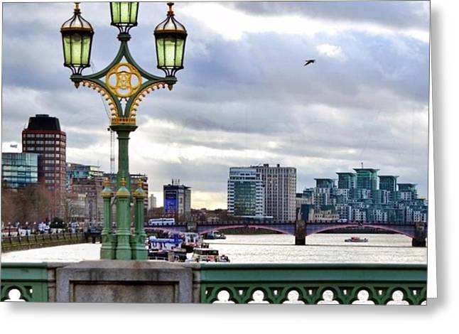 An Empty Westminster Bridge • #london Greeting Card