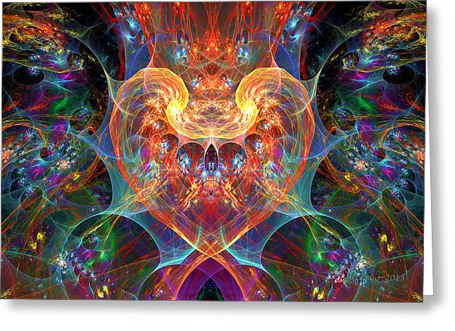 An Energetic Heart Greeting Card by Peggi Wolfe
