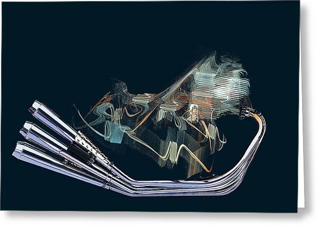 An Engine. Motorcycle Engine Greeting Card by Viktor Savchenko