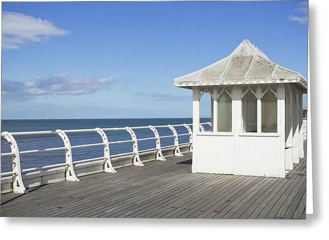An English Pier Greeting Card by Tom Gowanlock