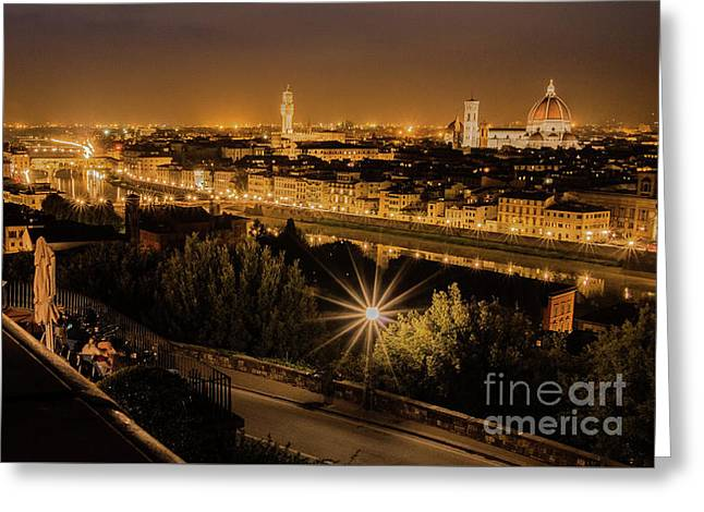 An Evening In Florence Greeting Card