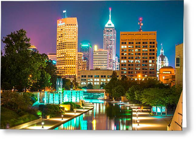 An Evening In Indianapolis Greeting Card