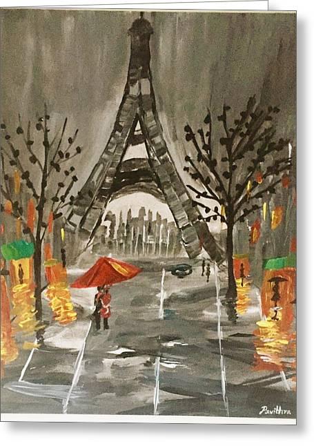 An Evening In Paris Greeting Card