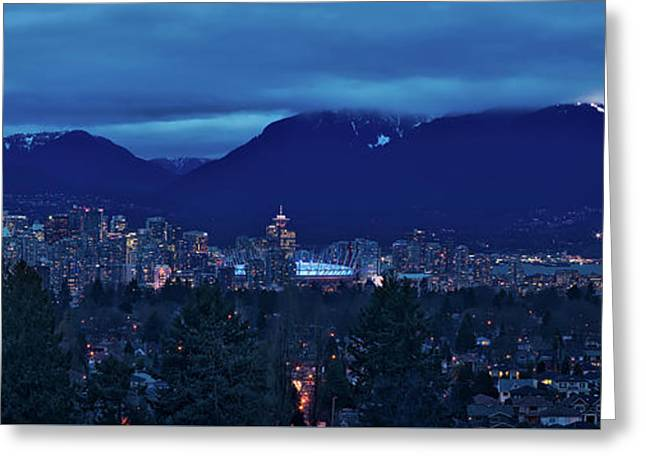 An Evening In Vancouver Greeting Card
