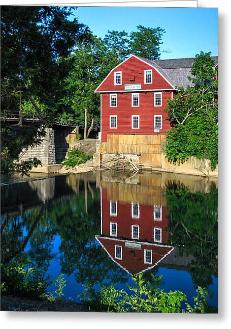 An Evening On The Waters Of War Eagle Mill Greeting Card