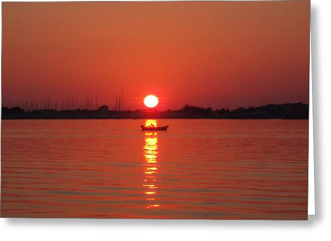 An Evening Row Greeting Card