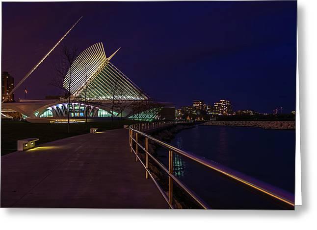 An Evening Stroll At The Calatrava Greeting Card