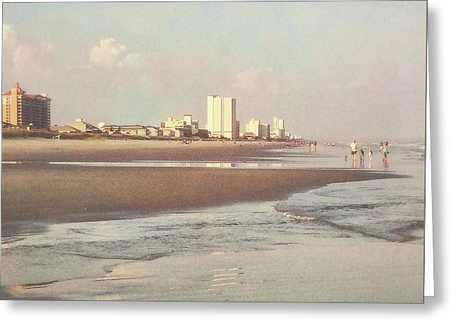 An Evening Walking The Grand Strand Greeting Card