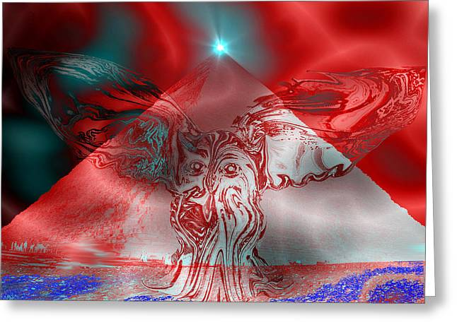 An Exorcism Of Secret Societies Greeting Card by Abstract Angel Artist Stephen K
