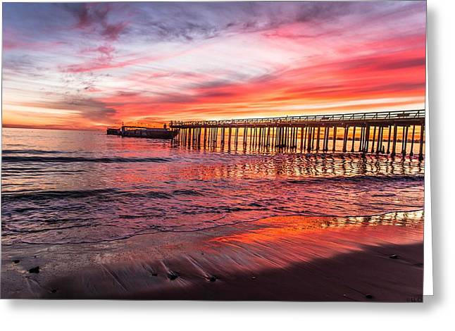 Seacliff Sunset Greeting Card by Lora Lee Chapman