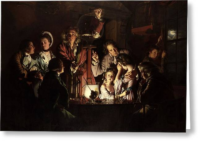 An Experiment On A Bird In The Air Pump, By Joseph Wright Of Derby Greeting Card
