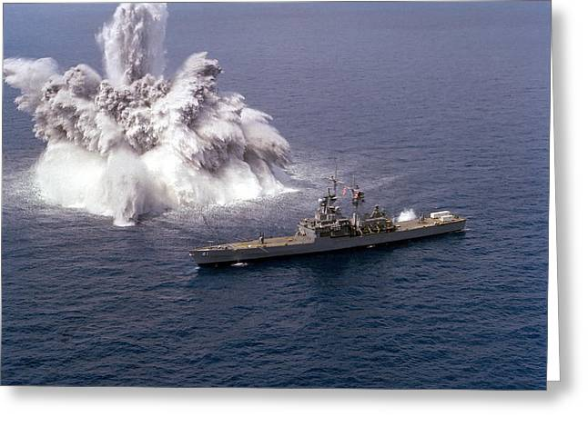Detonating Greeting Cards - An Explosive Charge Is Detonated Greeting Card by Stocktrek Images