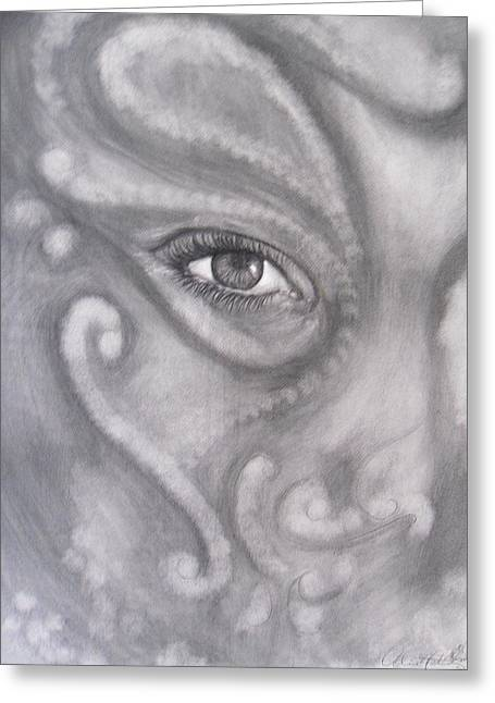 An Eye On You Greeting Card by Adrienne Martino