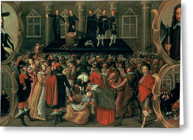 An Eyewitness Representation Of The Execution Of King Charles I Greeting Card