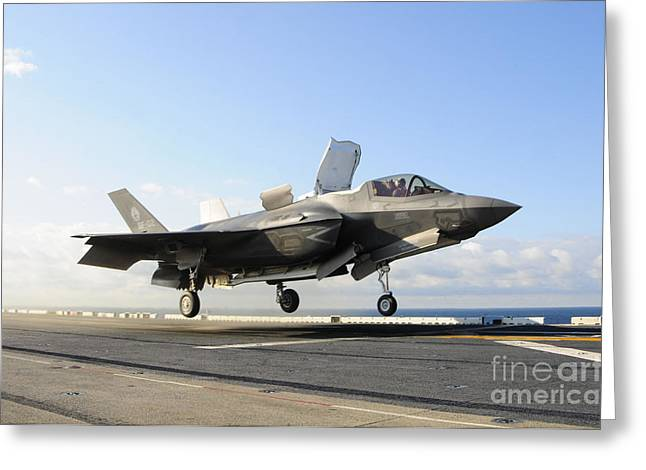 An F-35b Lightning II Lifts Greeting Card by Stocktrek Images