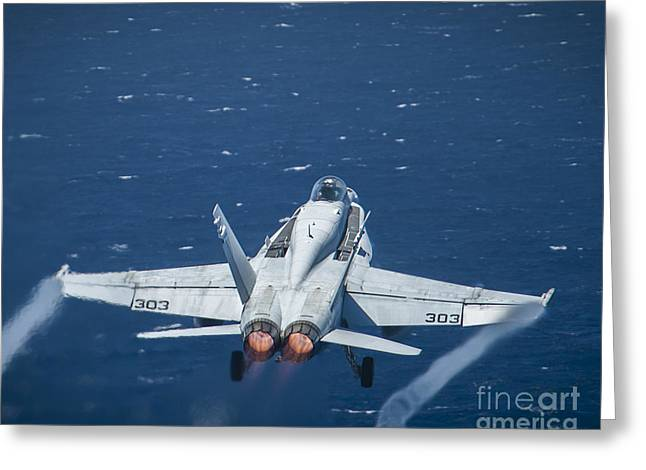 An F A-18c Super Hornet Greeting Card by Celestial Images