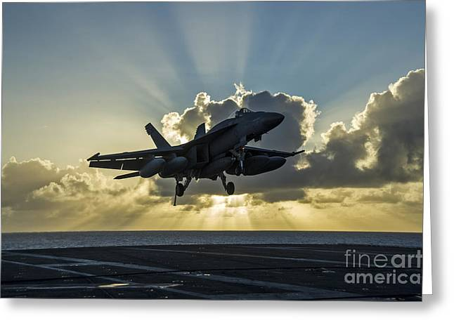 an F A-18E Super Hornet Greeting Card by Celestial Images