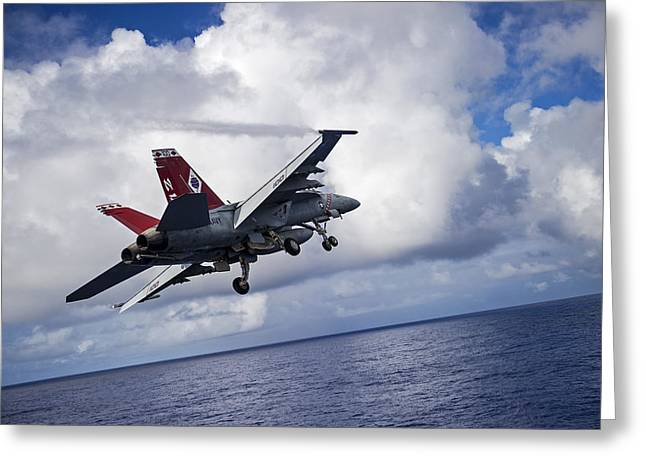 An F A-18f Super Hornet  Greeting Card by Celestial Images