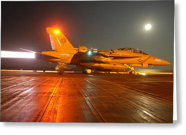 An Fa-18f Super Hornet Greeting Card by Stocktrek Images