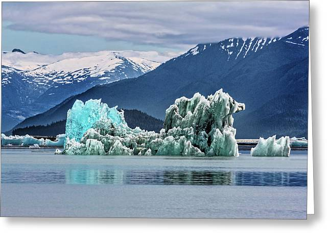 An Iceberg In The Inside Passage Of Alaska Greeting Card