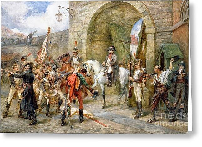 An Incident In The Peninsular War Greeting Card by MotionAge Designs
