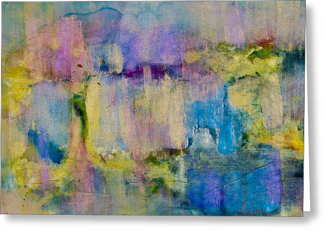 Large Blocks Of Color Greeting Cards - An Iridescent Oil Slick  Greeting Card by Don  Wright