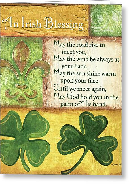 Greeting Card featuring the painting An Irish Blessing by Debbie DeWitt