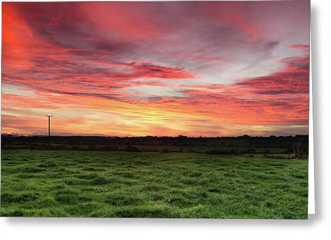 An Irish Landscape Greeting Card by Martina Fagan