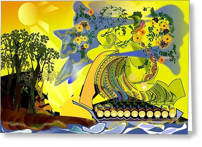 An Island Dream Greeting Card by Gary Kennedy