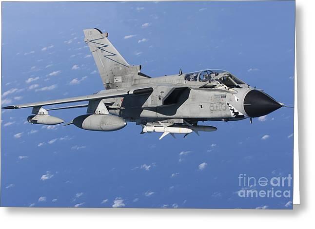 An Italian Air Force Tornado Ids Armed Greeting Card by Gert Kromhout