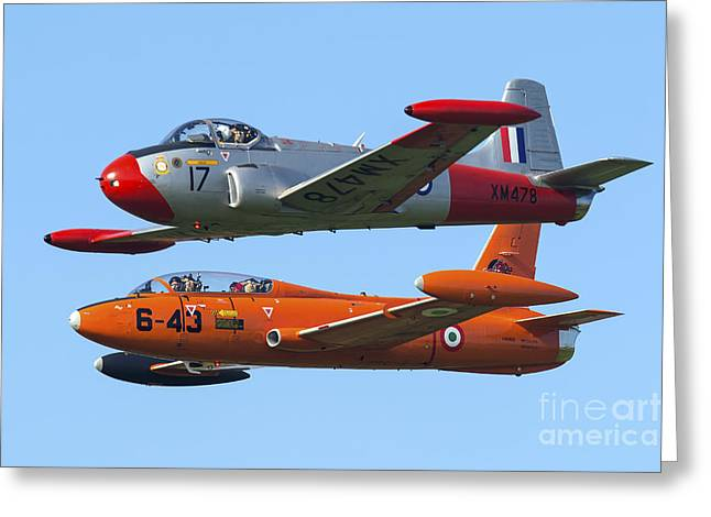 An Mb-326e Of The Italian Air Force Greeting Card
