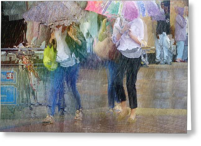 Greeting Card featuring the photograph An Odd Sharp Shower by LemonArt Photography