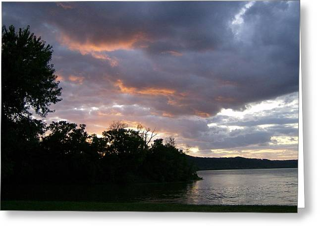 An Ohio River Valley Sunrise Greeting Card by Skyler Tipton