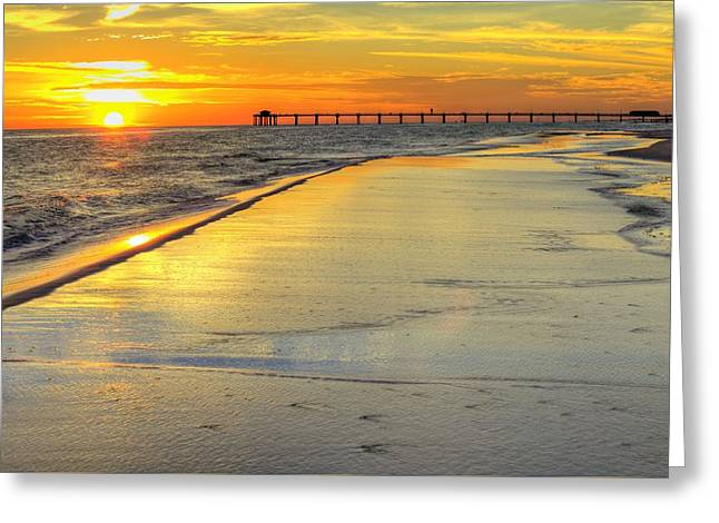 An Okaloosa Island Sunset Greeting Card by JC Findley