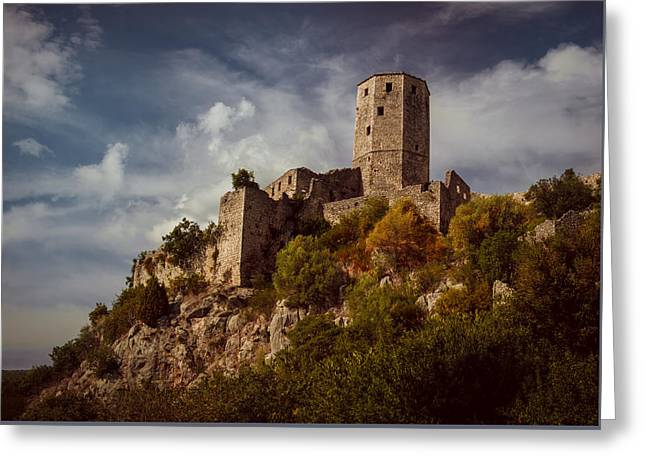 An Old Abandoned Castle Greeting Card by Jaroslaw Blaminsky