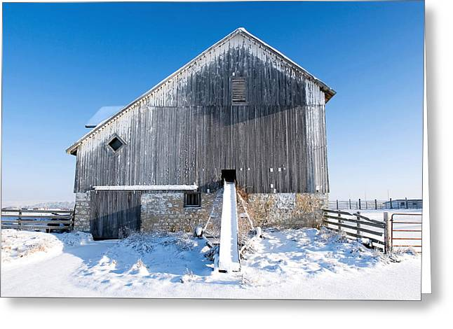 An Old Barn Greeting Card by Todd Klassy