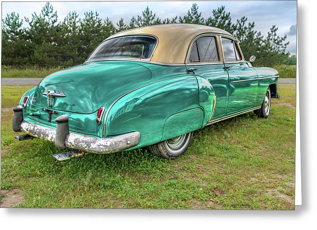 Greeting Card featuring the photograph An Old Chevy By The Road In Rural Maine by Guy Whiteley