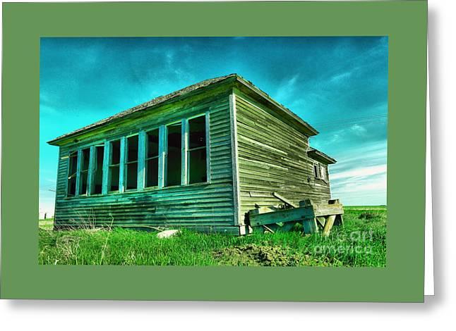 An Old Dakota Schoolhouse Greeting Card
