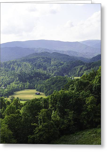 An Old Shack Hidden Away In The Blue Ridge Mountains Greeting Card