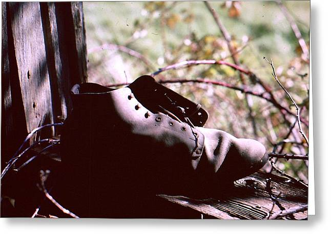 An Old Shoe Greeting Card by Richard Mansfield