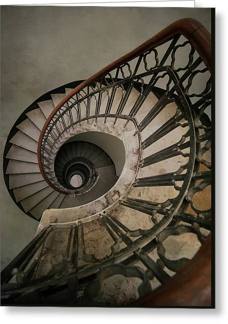 An Old Spiral Staircase Greeting Card