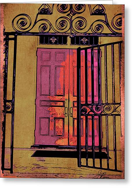 An Open Gate Greeting Card by Joan Reese