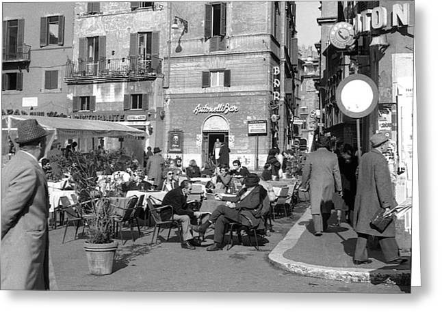 An Ordinary Day In Trastevere Greeting Card