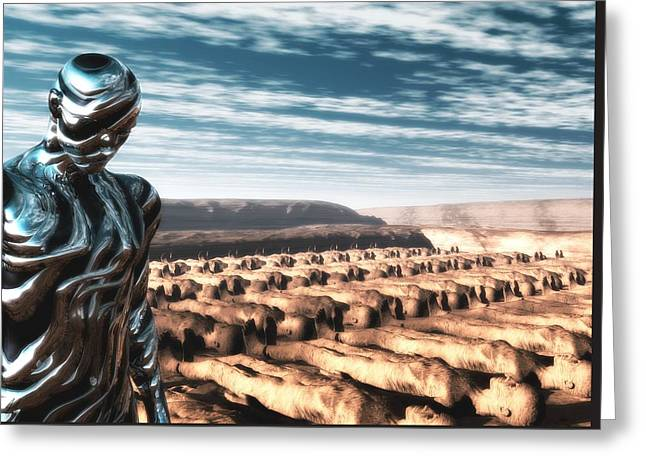 Greeting Card featuring the digital art An Untitled Future by John Alexander