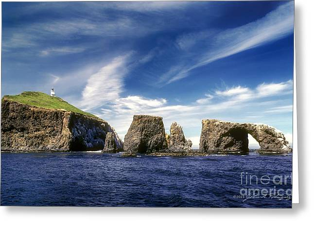 Channel Islands National Park - Anacapa Island Greeting Card by John A Rodriguez