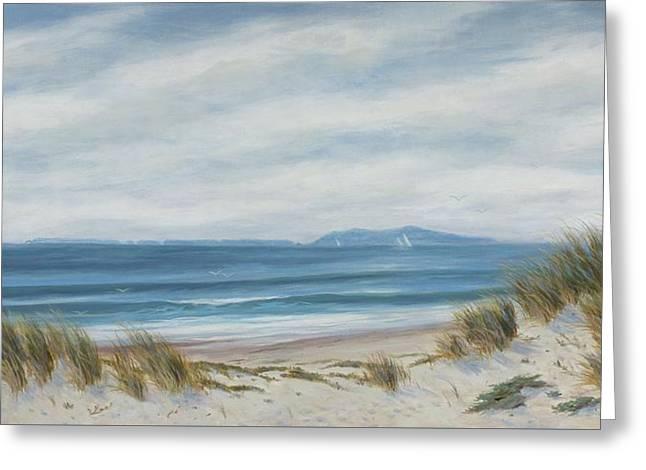 Anacapa Island Thru The Dunes Lll Greeting Card by Tina Obrien