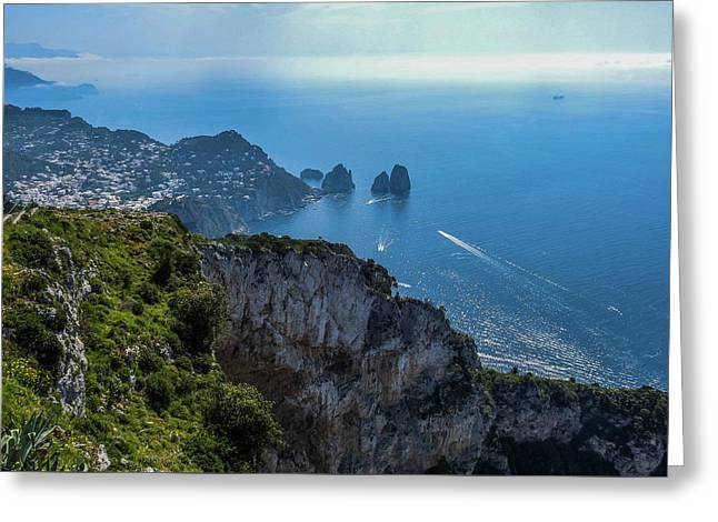 Anacapri On Isle Of Capri Greeting Card